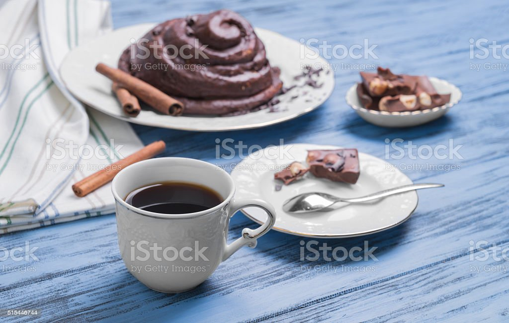 Round Twisted Bun Danish snail stock photo