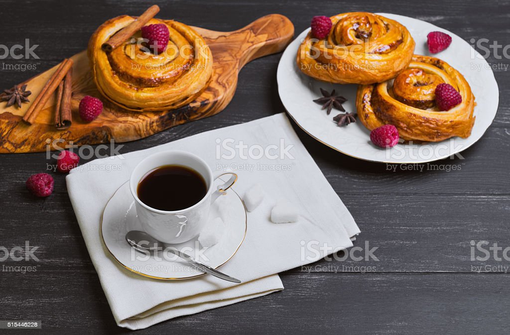 Round twisted Denish Buns stock photo