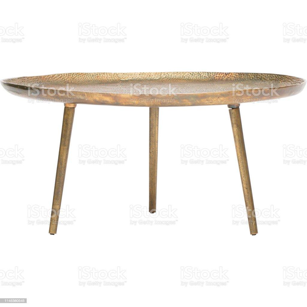 - Ein Runder Vintageglas Und Perspex Couchtisch White Coffee Table