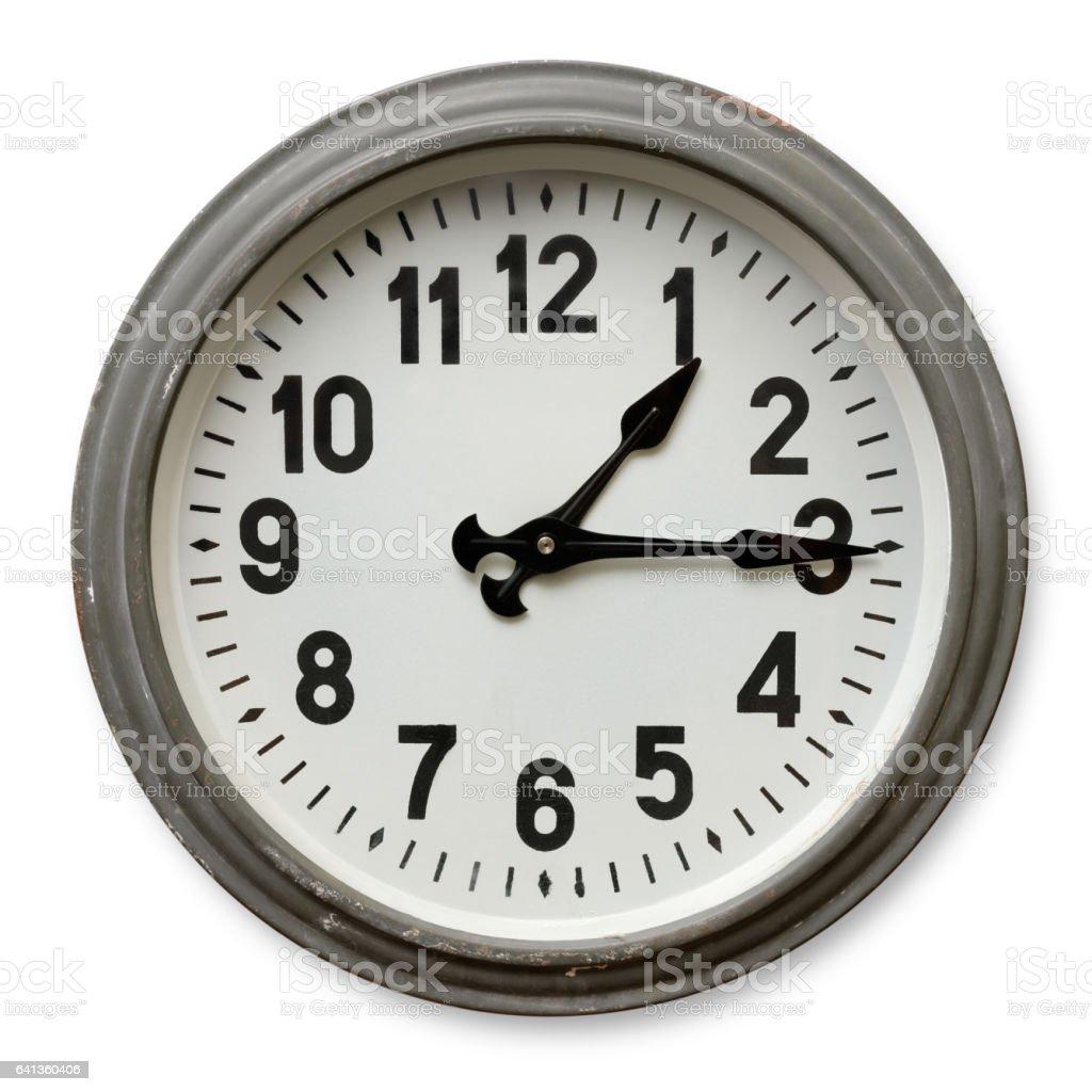 Round wall clock stock photo