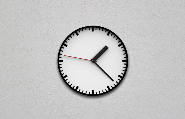 Round Wall Clock Wall Clock, Clock, Clock Face, Clock Hand, Instrument of Time clock hand stock pictures, royalty-free photos & images