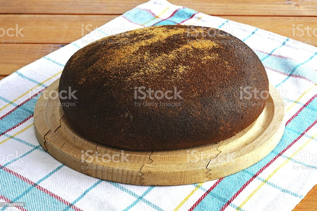 Round wholemeal loaf. royalty-free stock photo