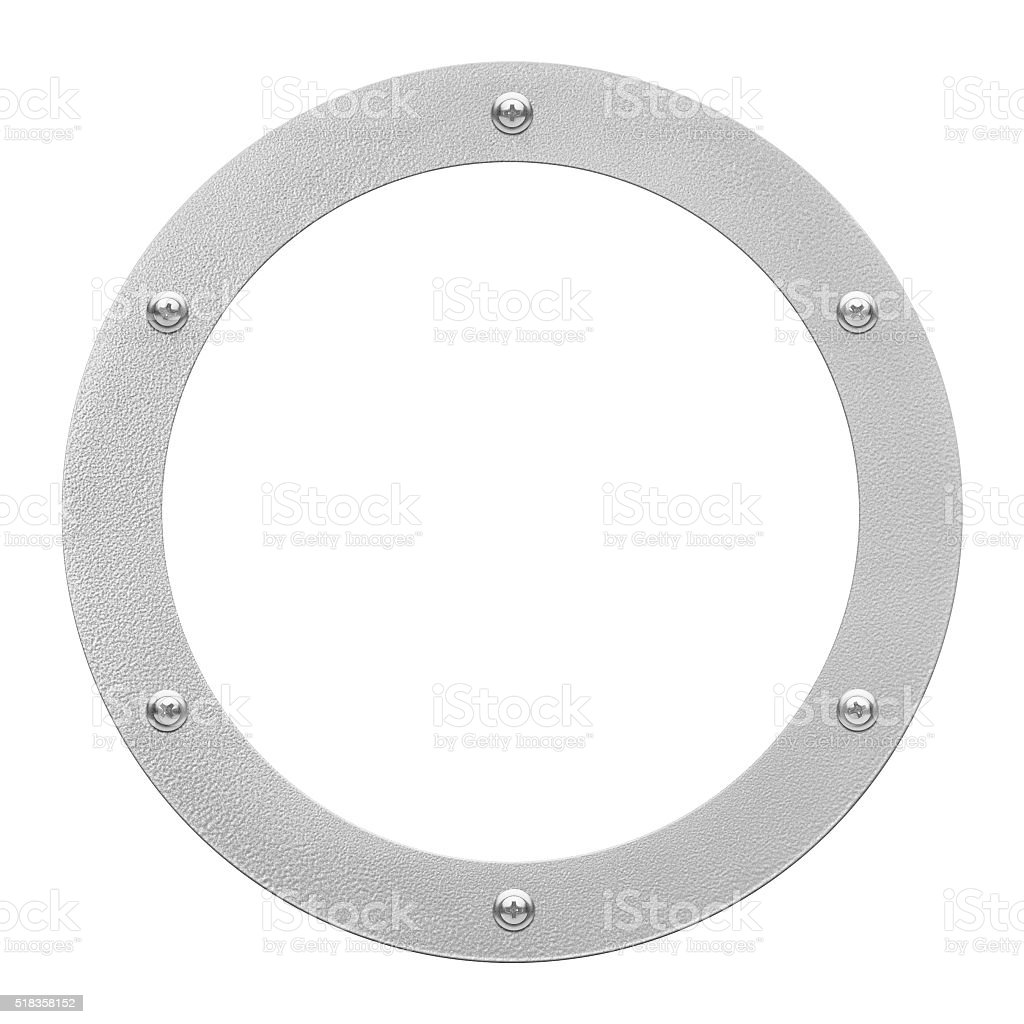 round window or porthole with white field stock photo