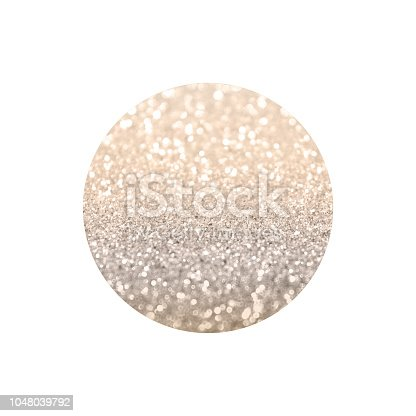 istock Round with rose gold glitter isolated on white background 1048039792