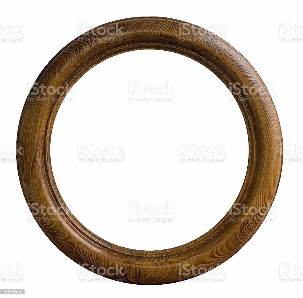 Round Wooden Empty Frame On White Background Stock Photo Download Image Now Istock