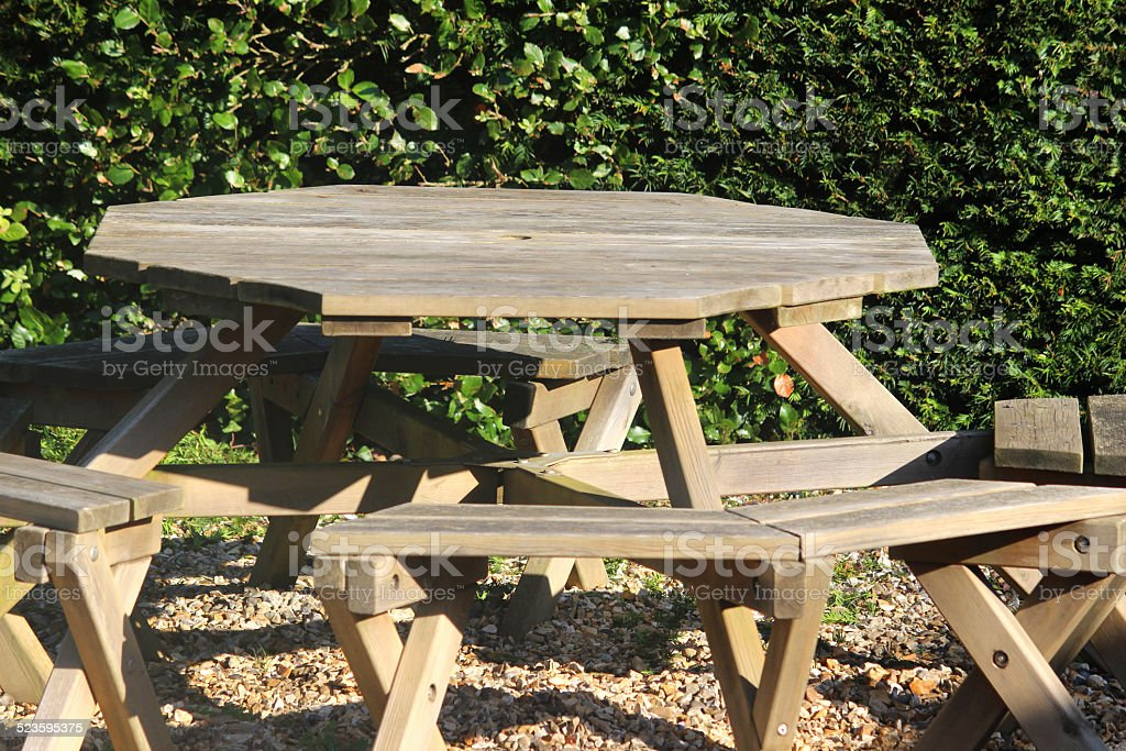 Incredible Round Wooden Picnic Tables Ornamental Gravel Garden Park Yew Andrewgaddart Wooden Chair Designs For Living Room Andrewgaddartcom