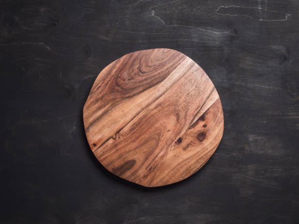 round wooden tray - plate stock pictures, royalty-free photos & images