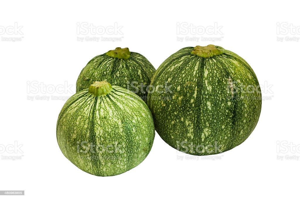Round zucchini . stock photo