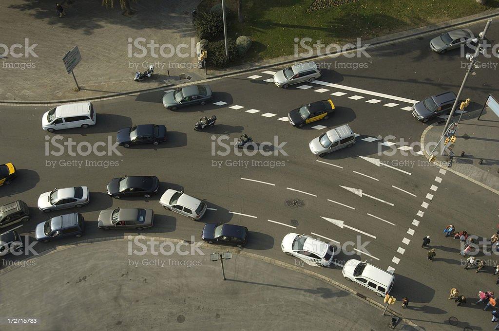 Roundabout royalty-free stock photo