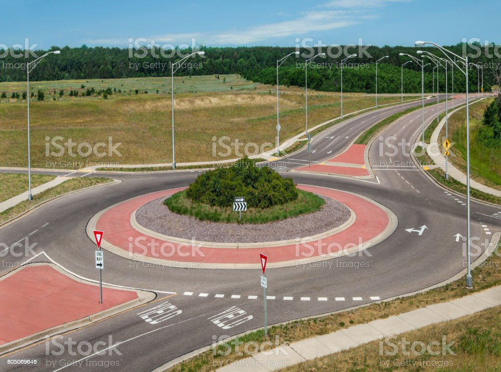 Rond-point - Photo de Autoroute libre de droits