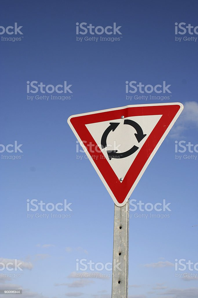 Roundabout sign royalty-free stock photo
