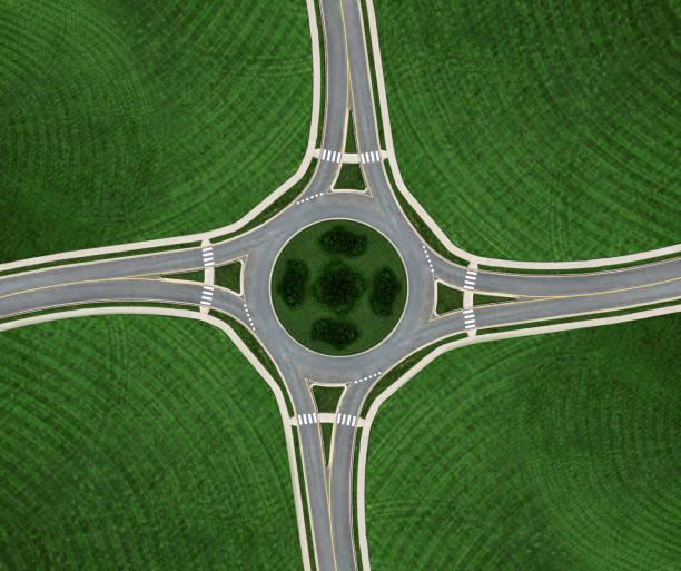 rond-point symmetry - rond point carrefour photos et images de collection