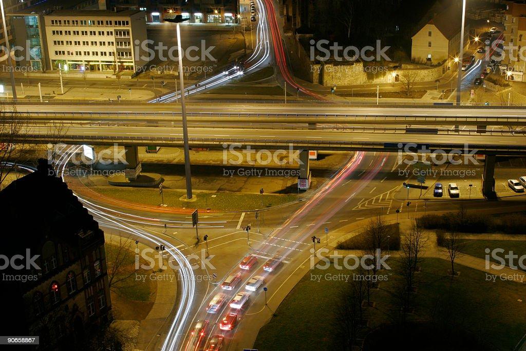 Roundabout Traffic royalty-free stock photo