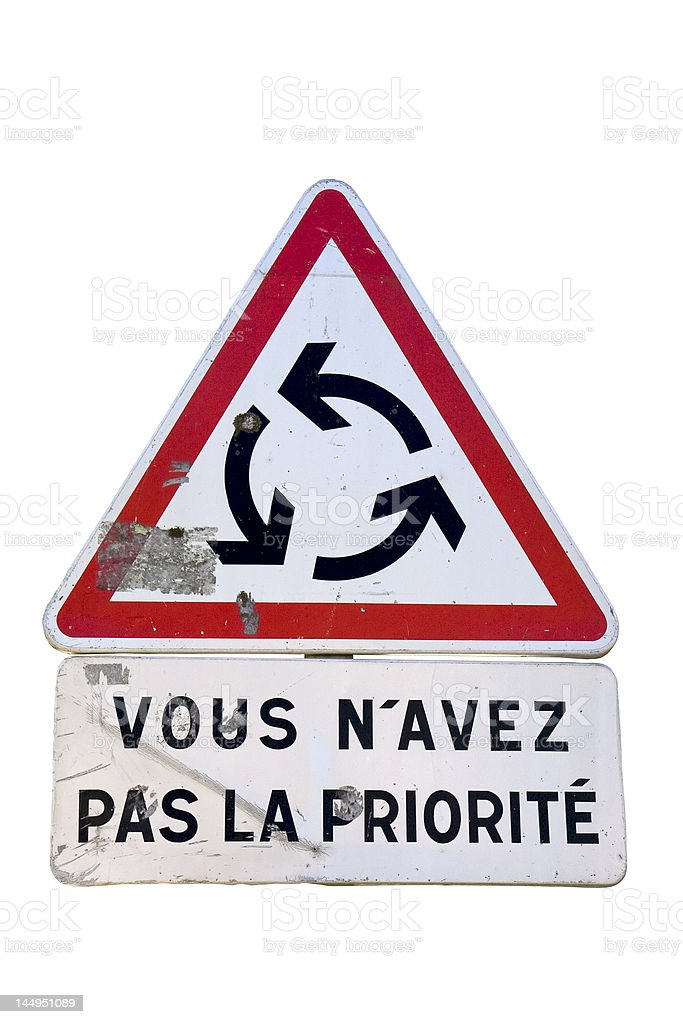 Roundabout traffic sign royalty-free stock photo