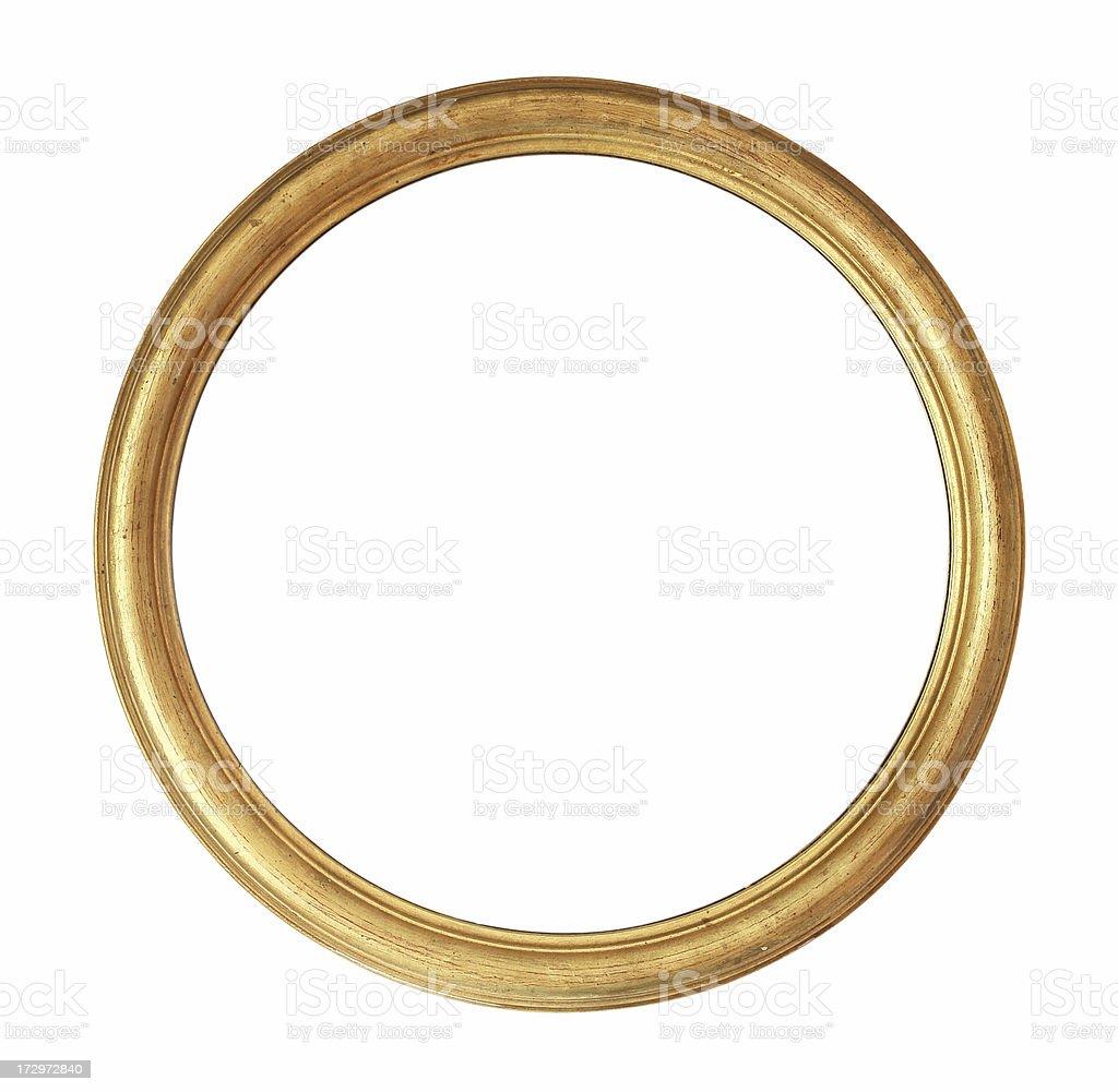 Rounded Golden Frame stock photo