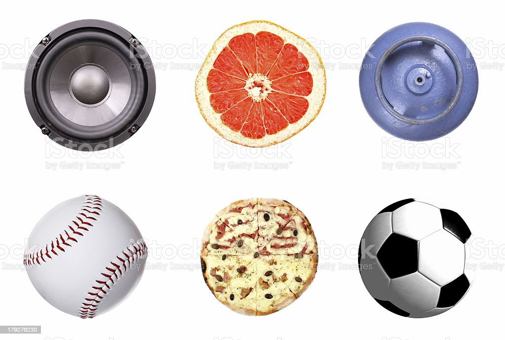 Rounded objects set royalty-free stock photo