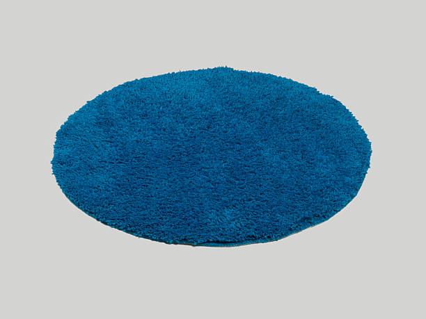 Rounded shape modern carpet stock photo