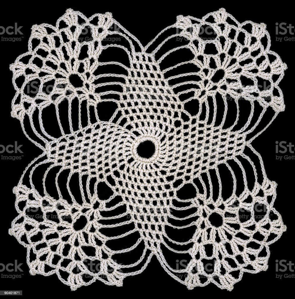 Rounded square Doily royalty-free stock photo