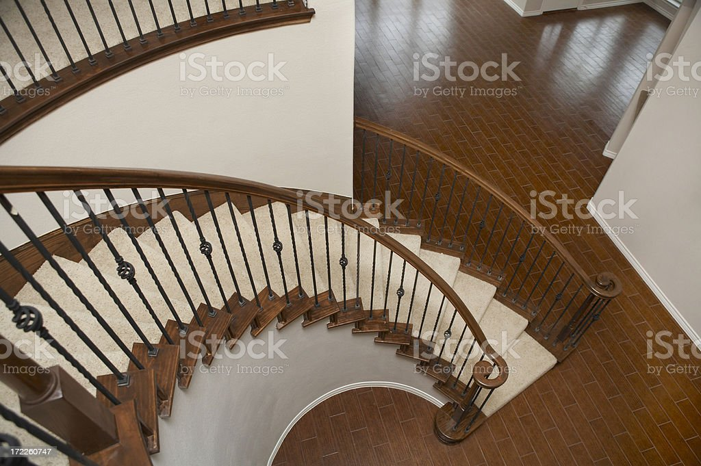 Rounded staircase royalty-free stock photo