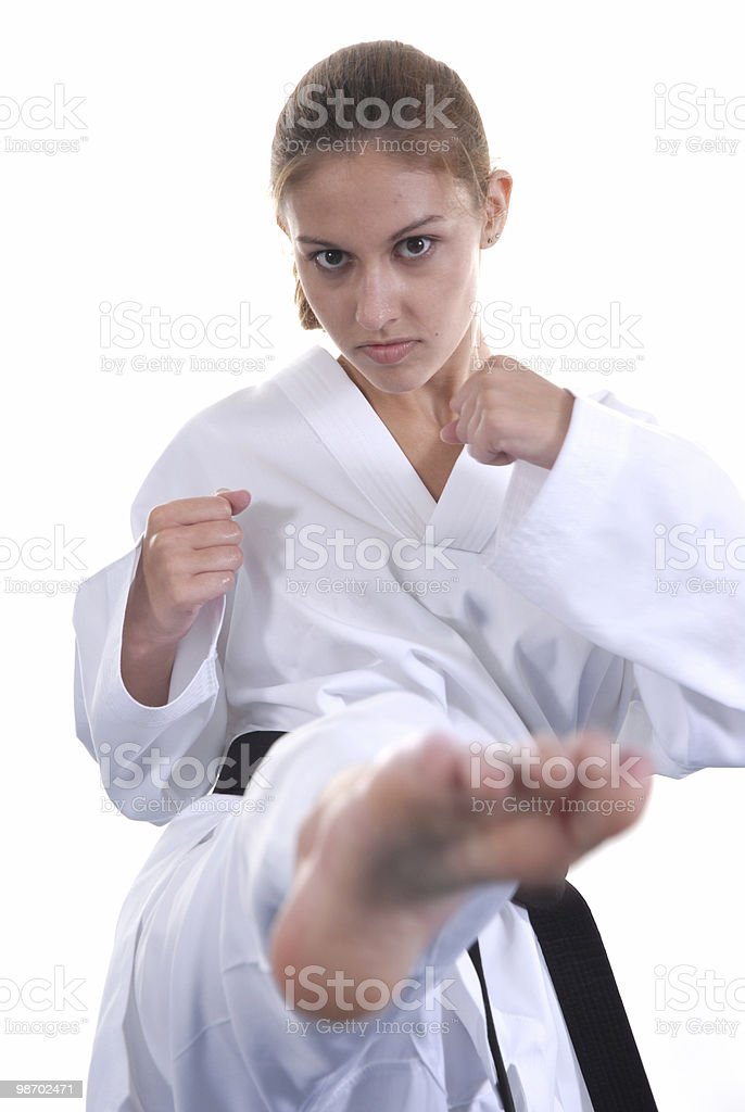 Roundhouse kick royalty-free stock photo