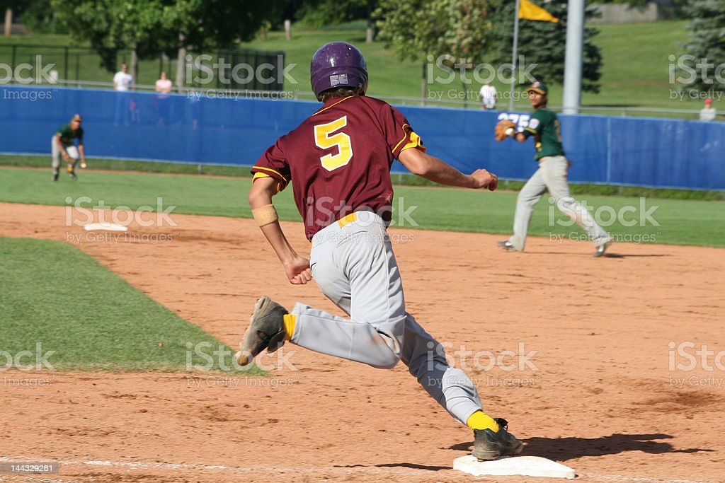 Rounding Firstbase royalty-free stock photo
