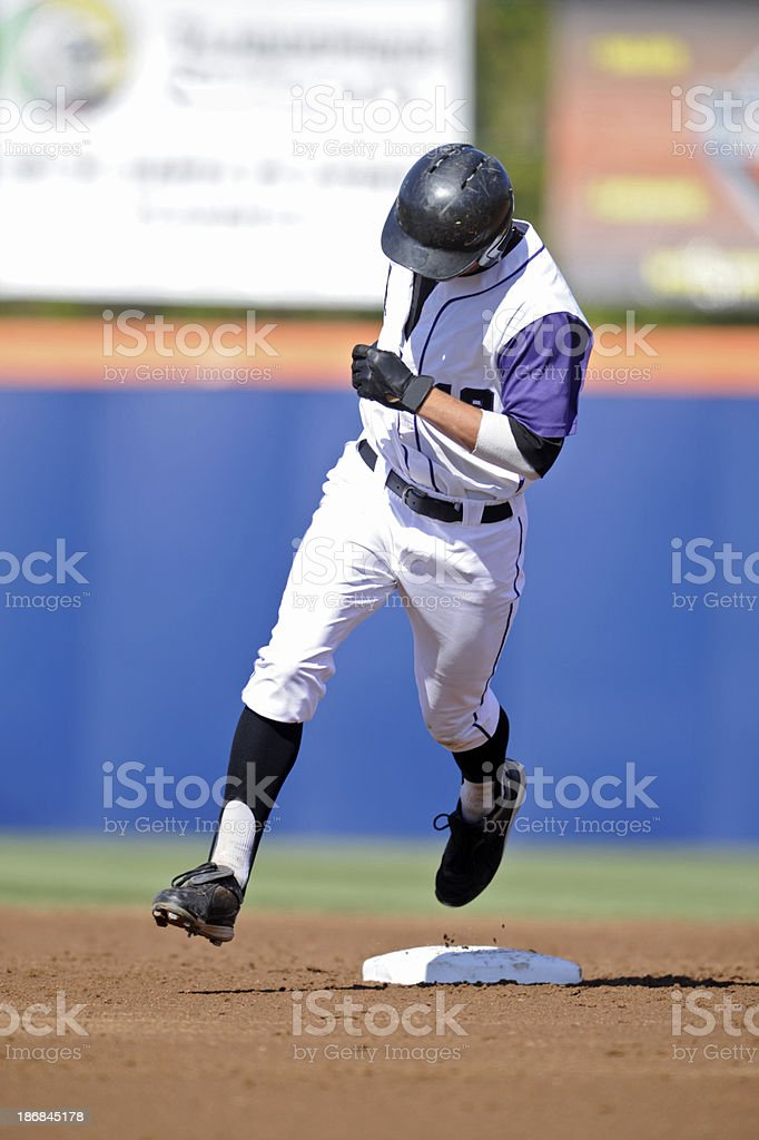 Rounding second base royalty-free stock photo