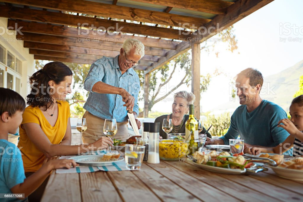 四捨五入為可口的星期天烤家庭 免版稅 stock photo