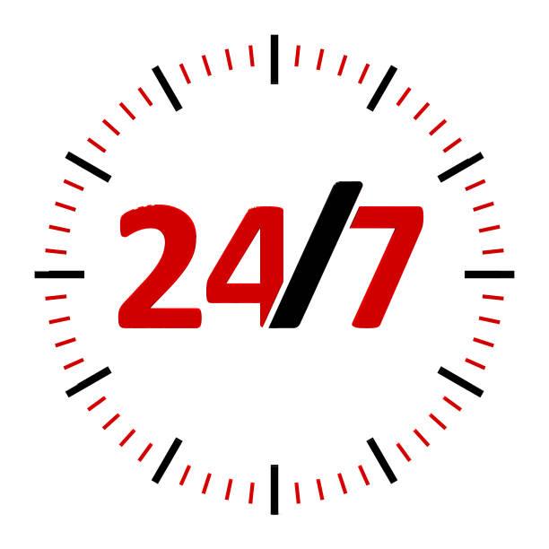 icône du service 24 heures sur 24 #2 - nombre 24 photos et images de collection