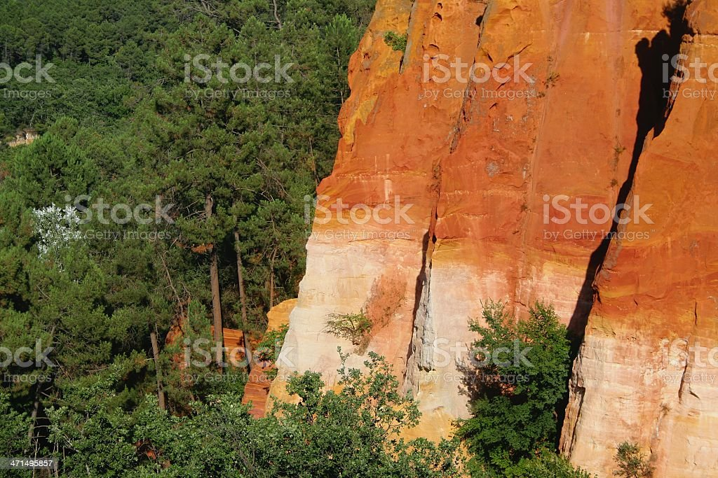 Roussillon ochre cliff royalty-free stock photo
