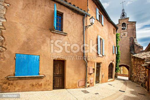 Street on the village of Roussillon - Provence - France.