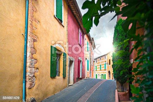 Colorful village of Rossillon, Provence-Alpes-Cote d'Azur, France.
