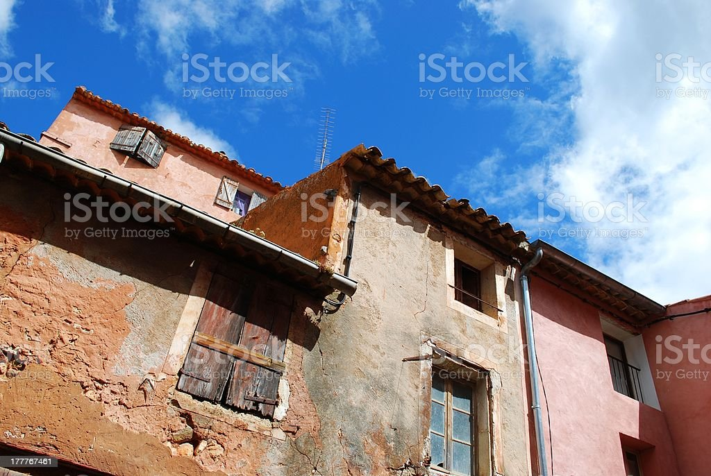 Roussillon village, France royalty-free stock photo