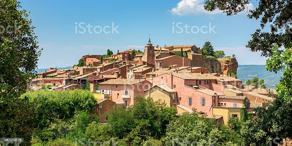 Roussillon Village South France stock photo