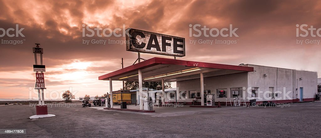 Route 66 Cafe stock photo