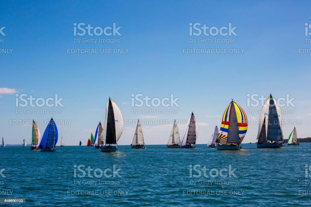 Route 66 Coastal Sailing Race stock photo