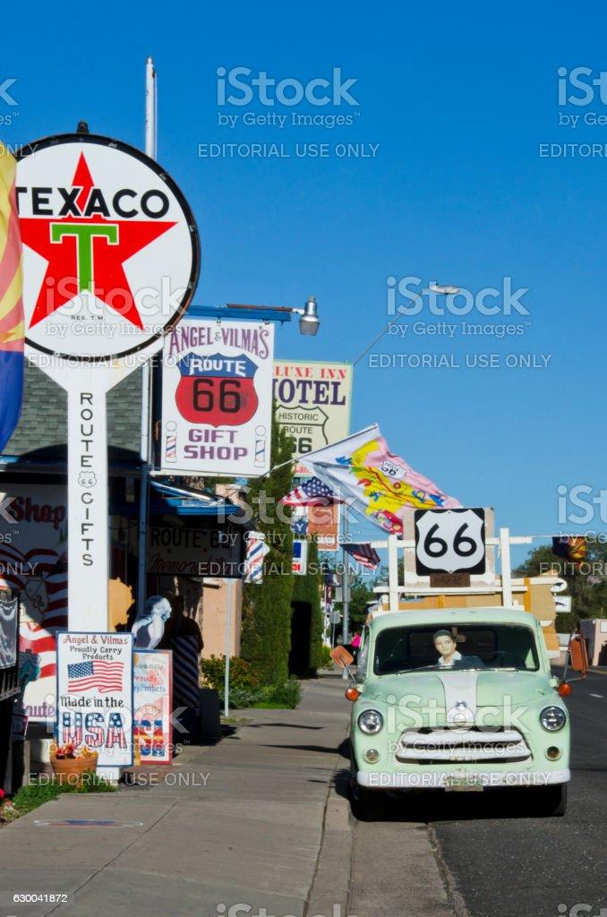 Route 66 Gift Shop in Seligman, Arizona stock photo