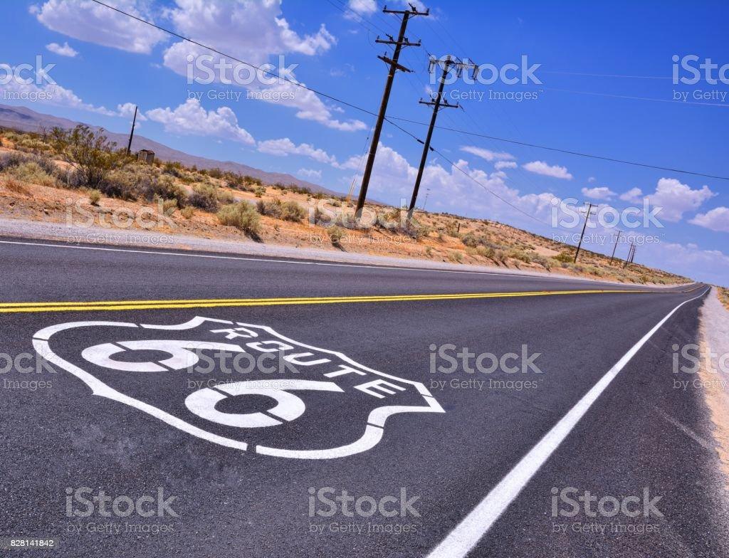 U.S. Route 66 highway. stock photo