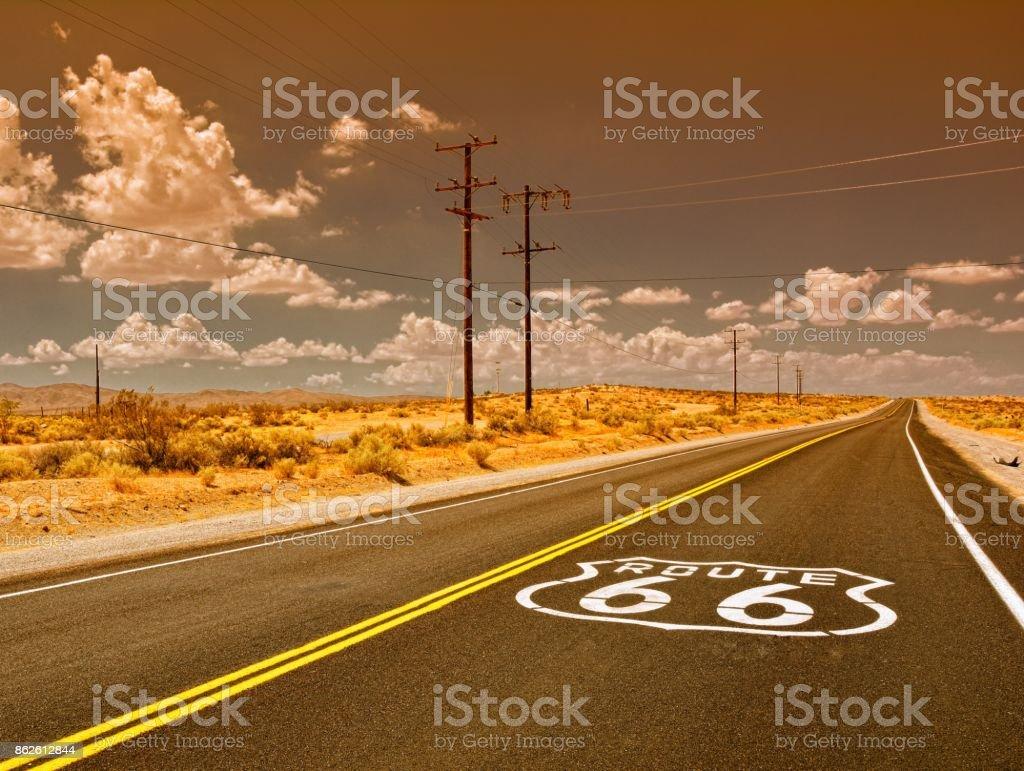 U.S. Route 66 highway stock photo