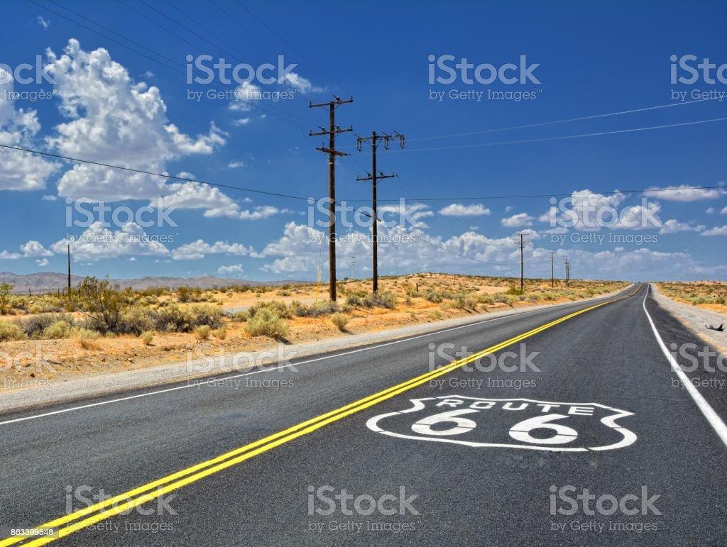 U.S. Route 66 highway, stock photo