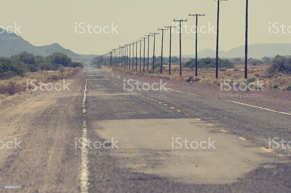 Route 66 - hot desert royalty-free stock photo