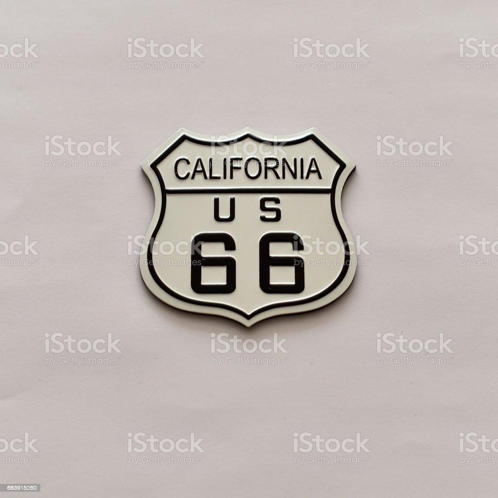 U.S. Route 66 in California Sign stock photo