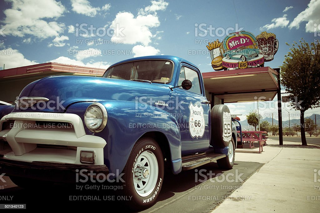Route 66 Kingman Arizona stock photo