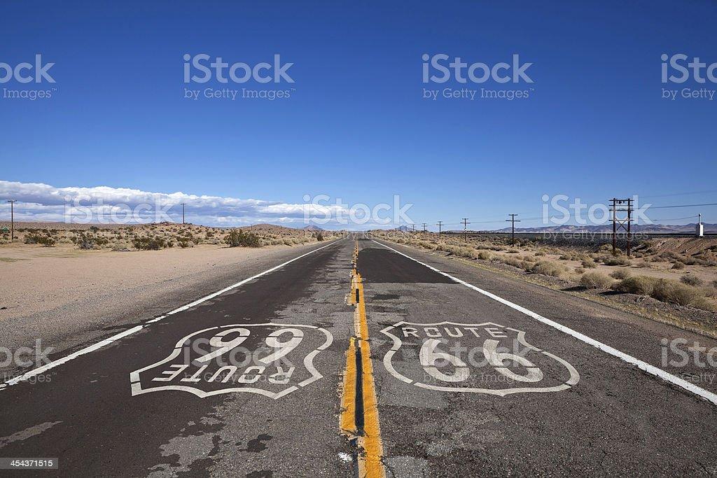 Route 66 Mojave Desert stock photo