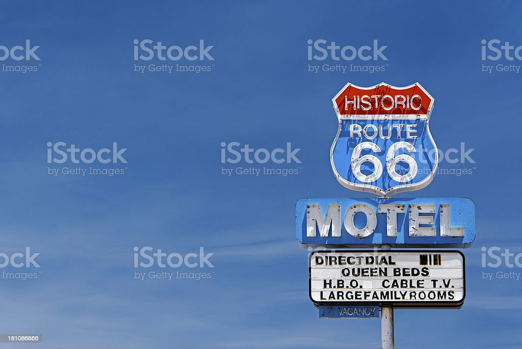 Route 66 Motel stock photo