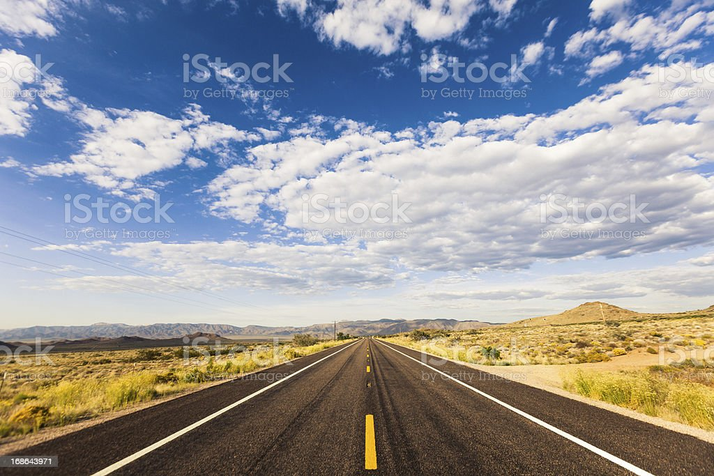 Route 66 on a sunny day stock photo