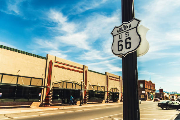 usa route 66 - route 66 stock-fotos und bilder