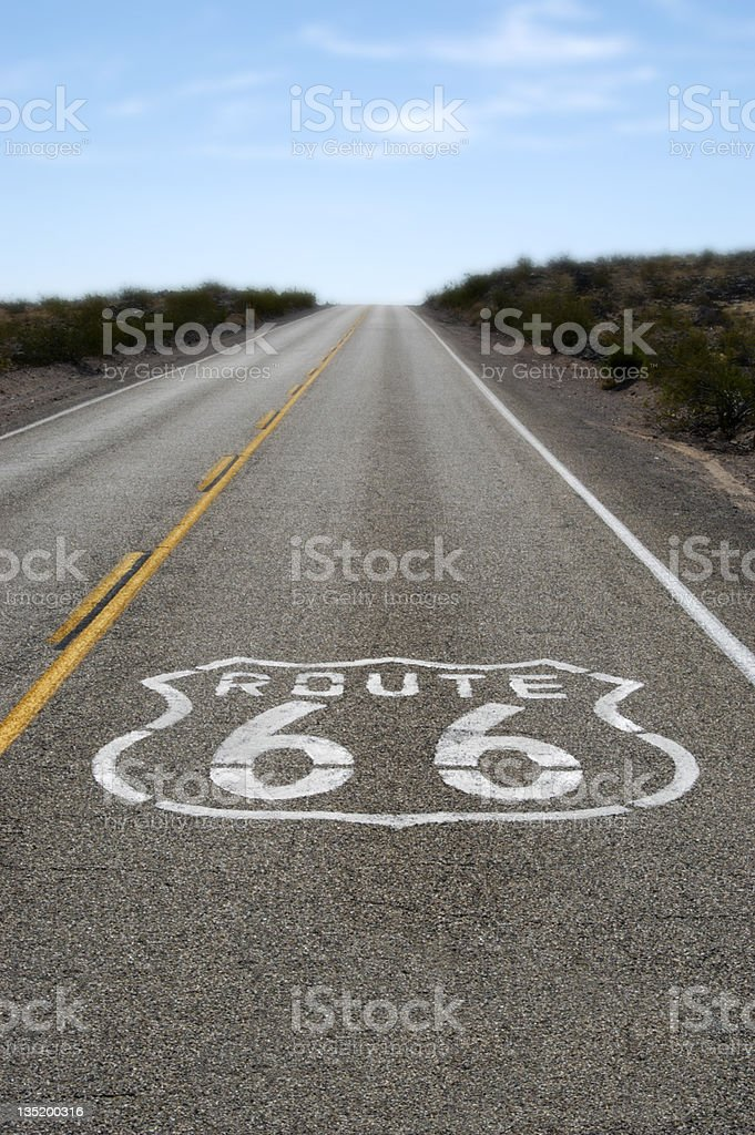 Route 66 royalty-free stock photo