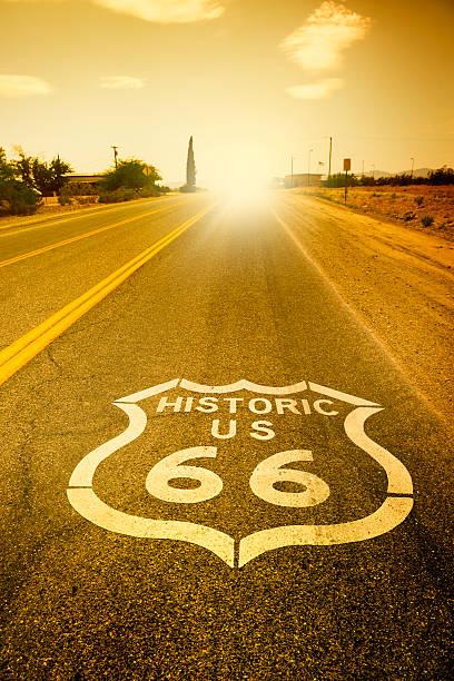 route 66 - arizona highway signs stockfoto's en -beelden