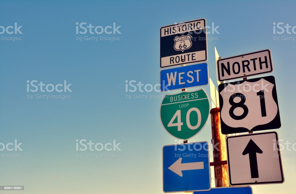 Route 66. stock photo