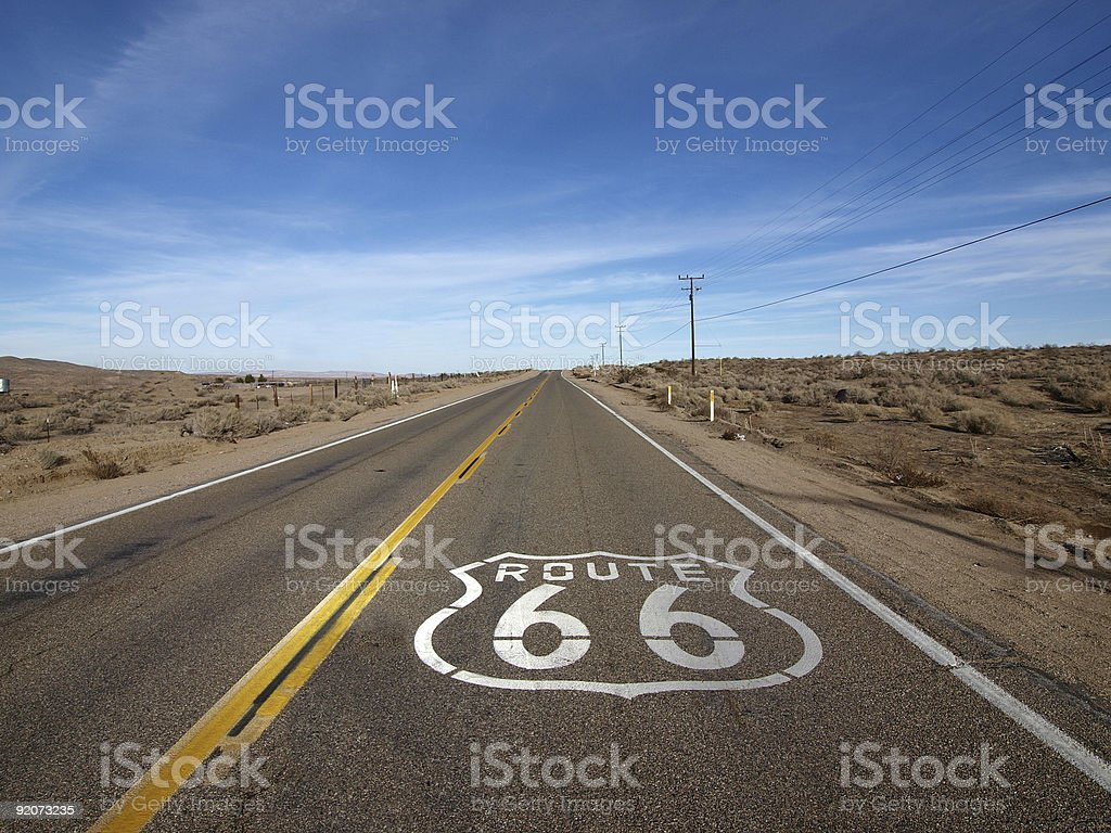 Route 66 stock photo